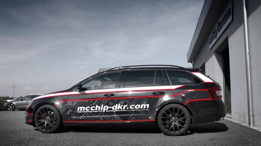 Skoda Octavia Combi vRS diesel version tuned to 215 HP by mcchip-dkr