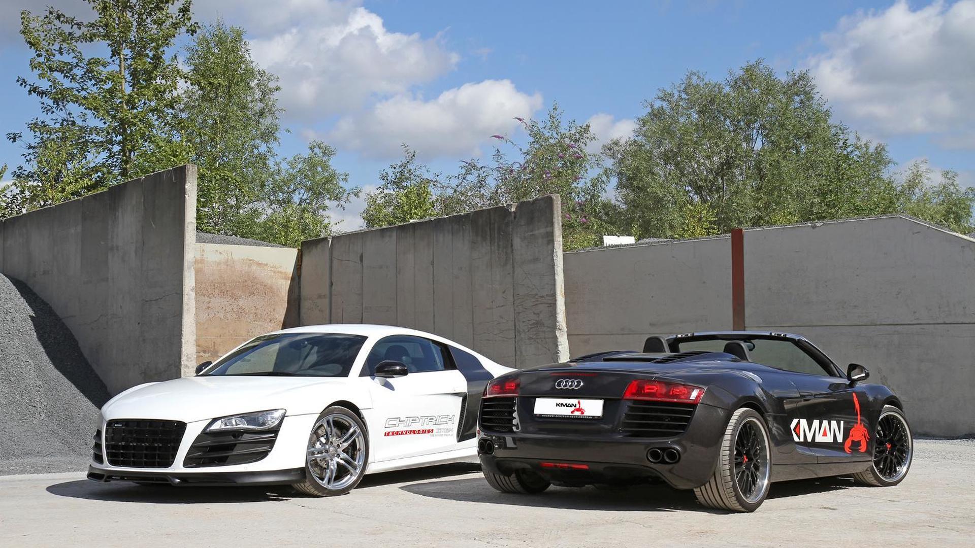 Чёрная и белая Audi R8. Тюнинг K.MAN