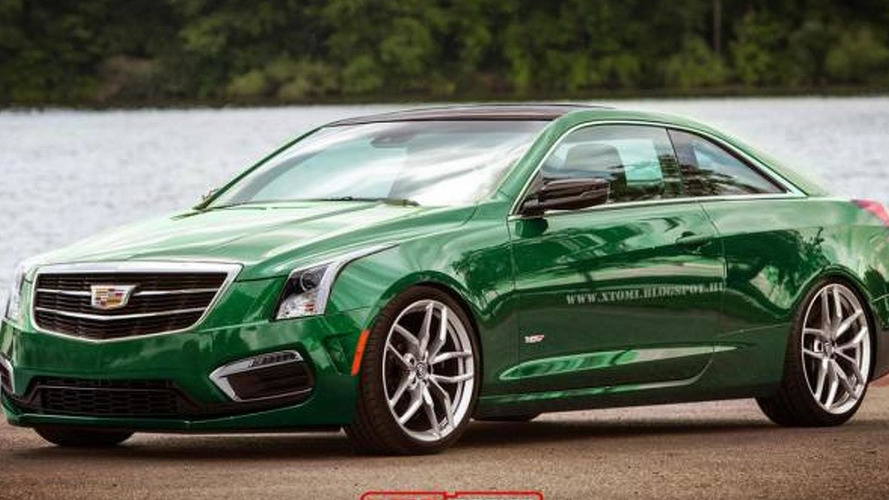 Cadillac ATS-V Coupe rendered based on recent spy photos