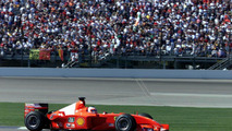 Rubens Barrichello in his Ferrari F2001 race car, 30.09.2001, Indianapolis Grand Prix, USA / XPB