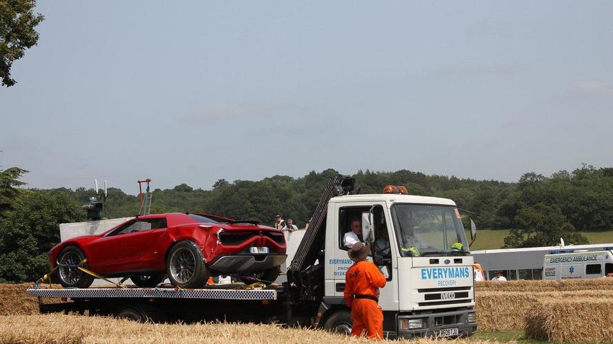 Italdesign Giugiaro Parcour Concept crashes at Goodwood
