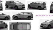 2014 Renault Espace leaked patent sketch