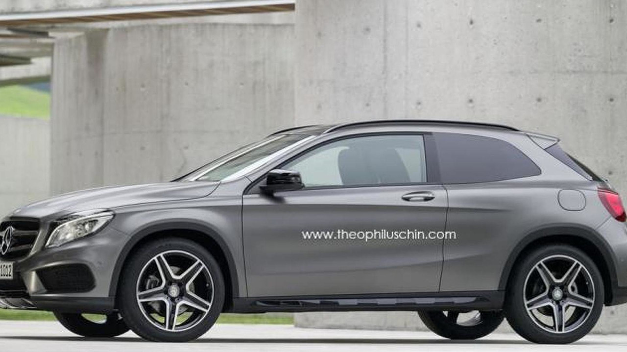 Mercedes-Benz GLA three-door render 10.10.2013