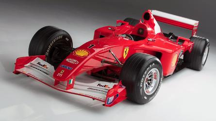 6,4 M€ pour la Ferrari F2001 de Schumacher aux enchères !
