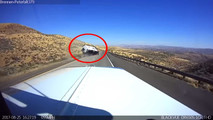 SUV Towing Camper Flips