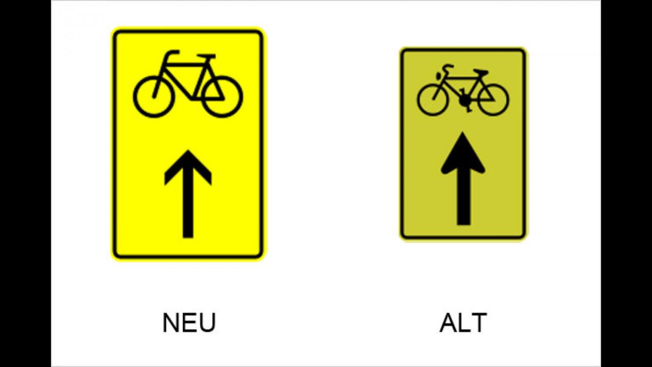 Vorwegweiser für Fahrradfahrer