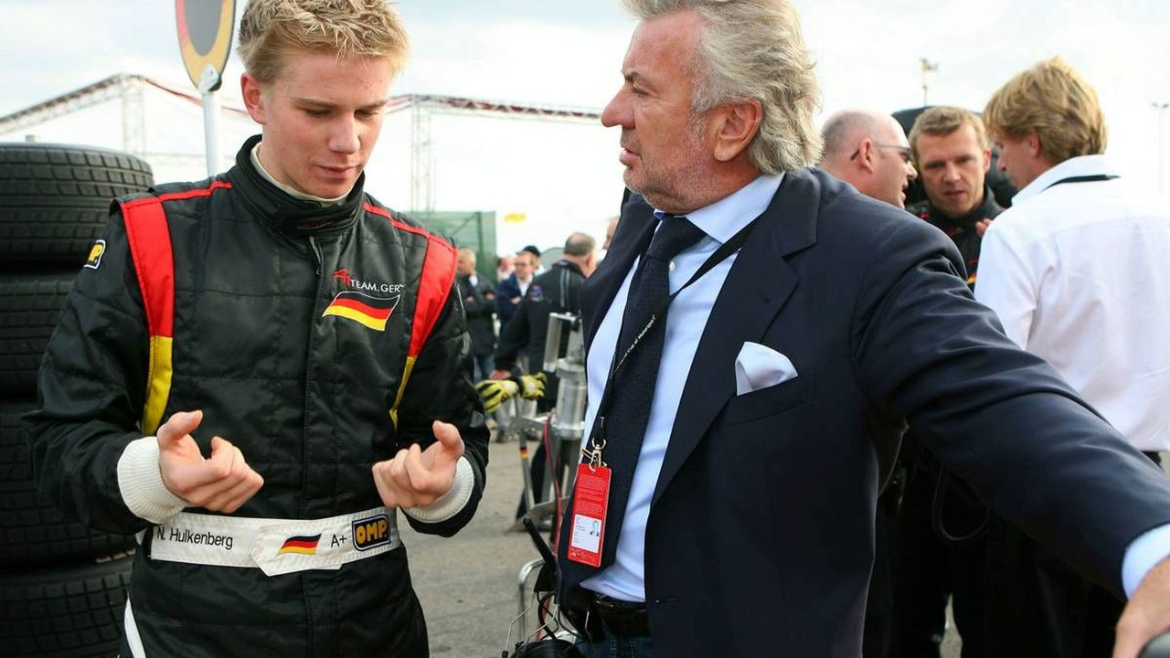 Nico Hulkenberg, Driver of A1Team Germany (left) and Willi Weber, 01.10.2006 Zandvoort, The Netherlands