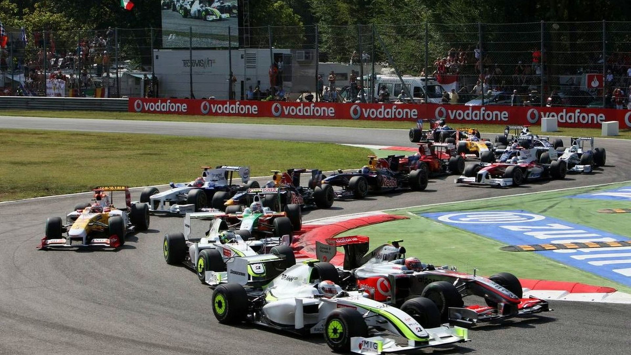The beginning of the 2009 Italian Grand Prix