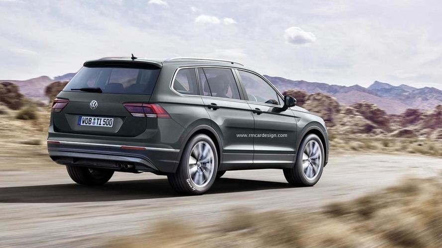 Seven-seat Volkswagen Tiguan rendered ahead of late 2016 launch