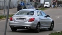 Mercedes C Class facelift spy photo
