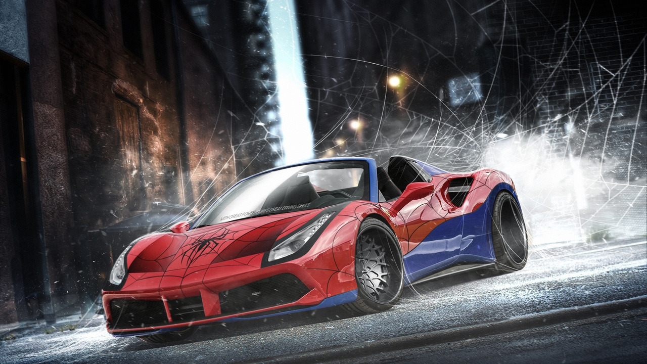 Spiderman - Ferrari 488 Spider