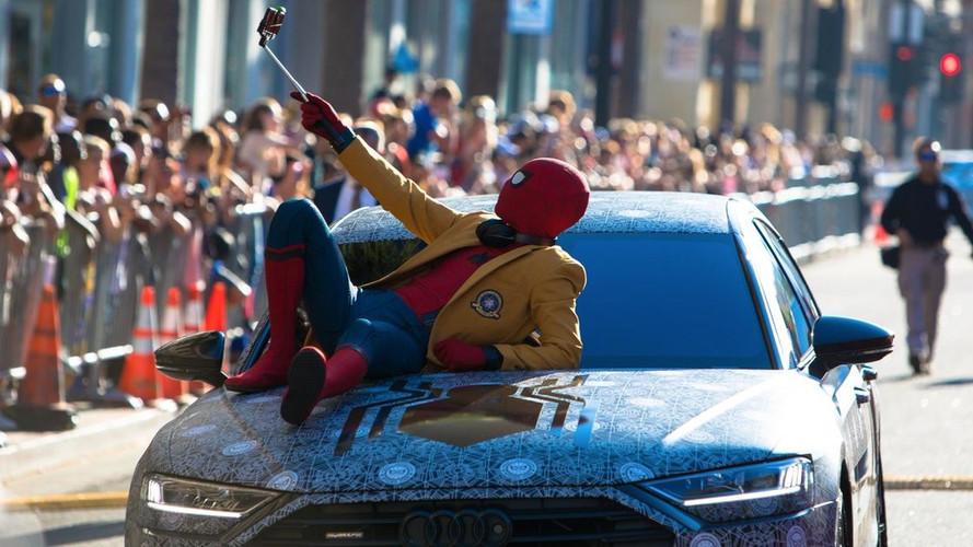 Spider-Man, Homecoming prömiyerine yeni Audi A8'le geldi