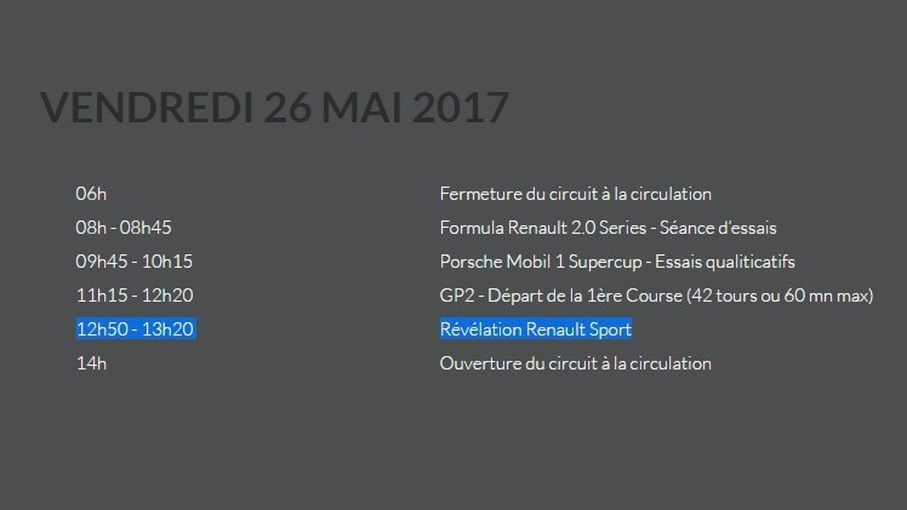 2018 Renault Megane RS possible reveal date