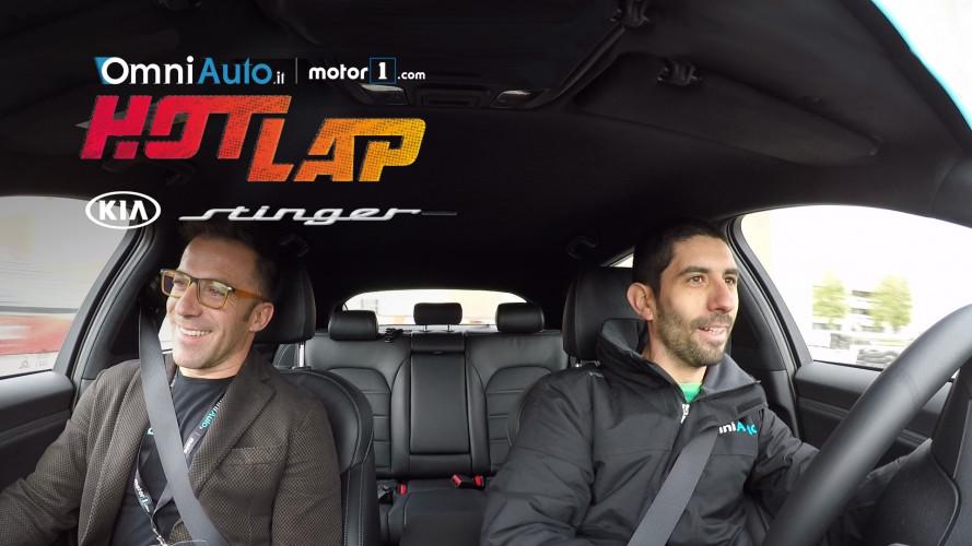 Alex Del Piero inaugura gli Hot Lap di OmniAuto.it al Motor Show 2017