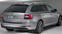 Skoda Superb Combi render