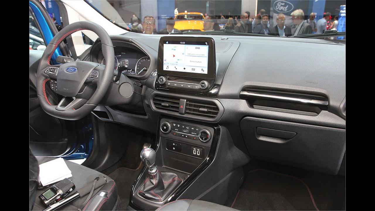 IAA 2017: Sitzprobe im neuen Ford EcoSport