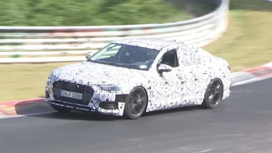 Audi S6 prototype sounds mean on the Nürburgring
