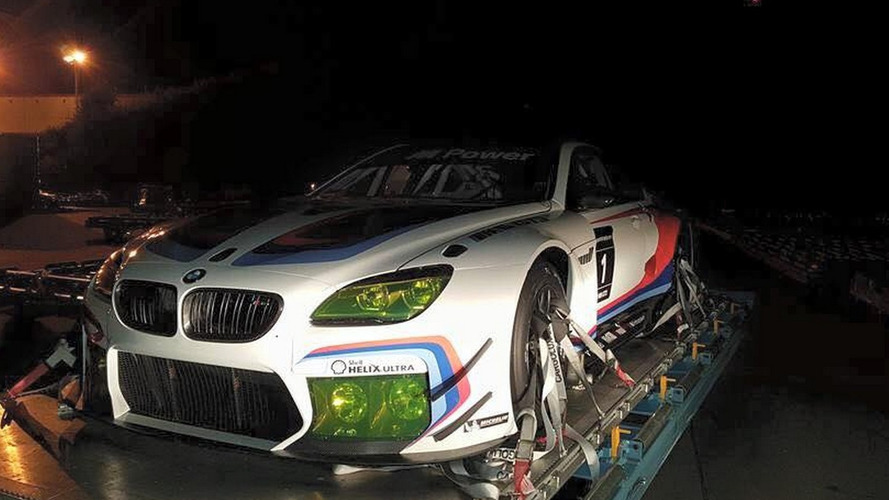 BMW M6 GT3 racecar looks like a tamed beast in real shots from Atlanta