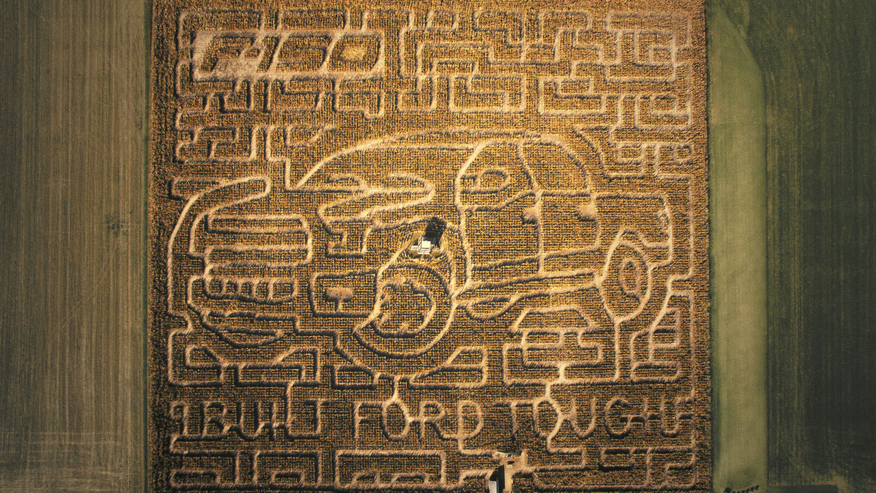 Ford F-150 inspired corn maze