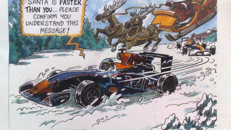 Red Bull wins battle of funniest Xmas card