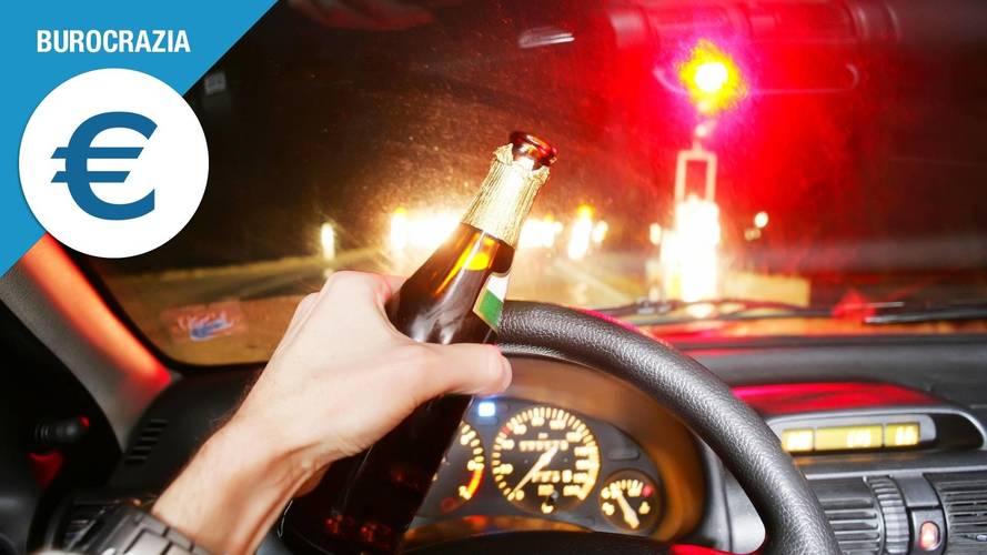 Alcol alla guida, cosa si rischia