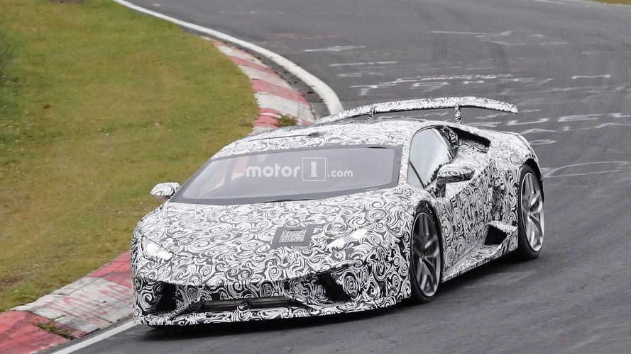Photos espions - Lamborghini Huracan Superleggera