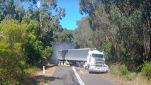 Semi truck crash