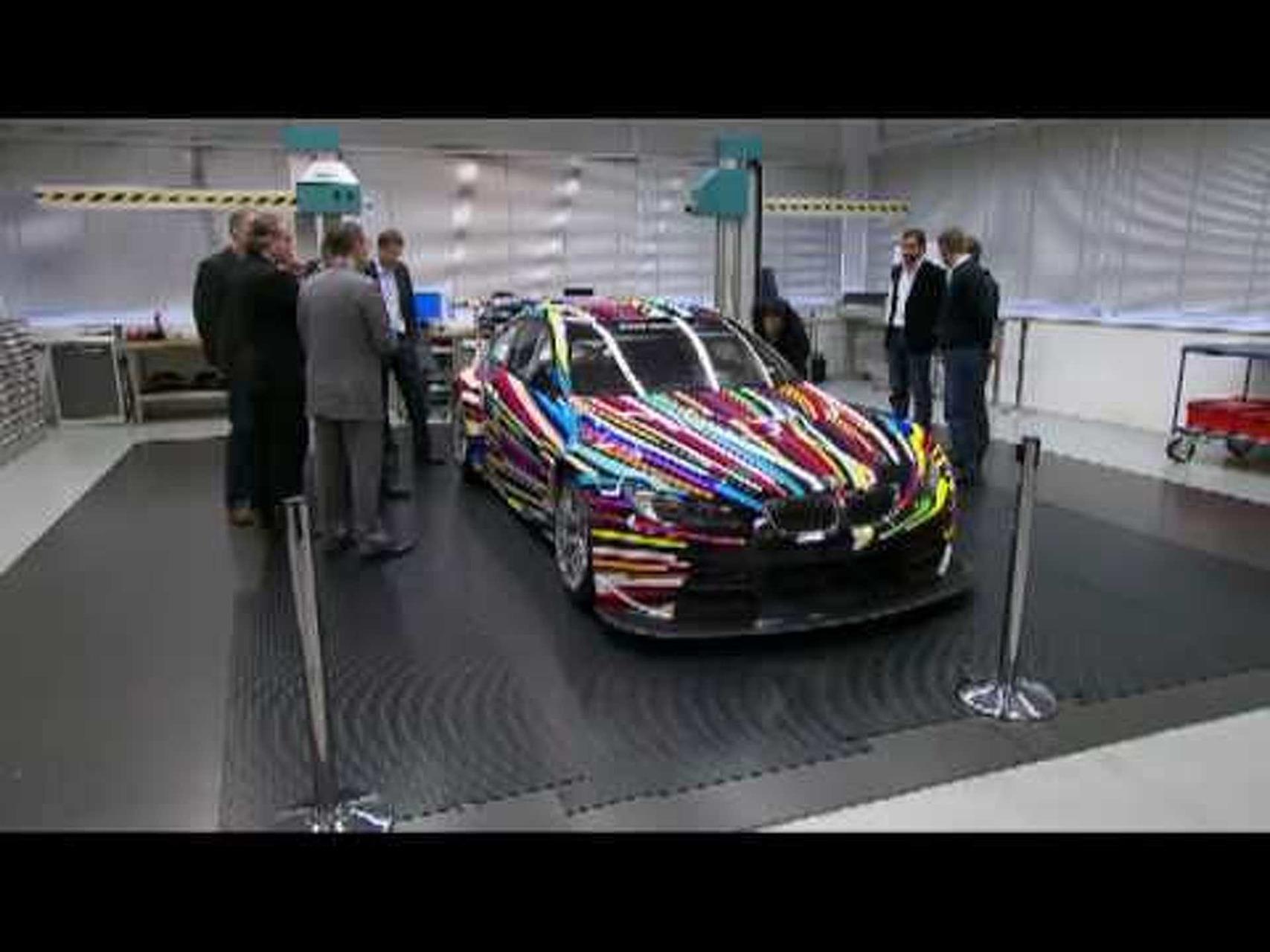 BMW M3 GT2 Art Car by Jeff Koons Part 1