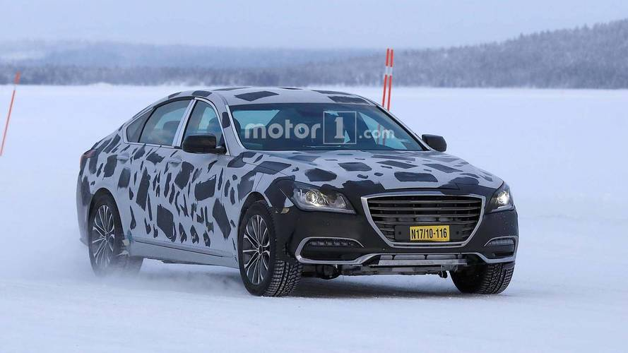 Weird Looking Genesis G80 Mule Spied Testing On Frozen Lake