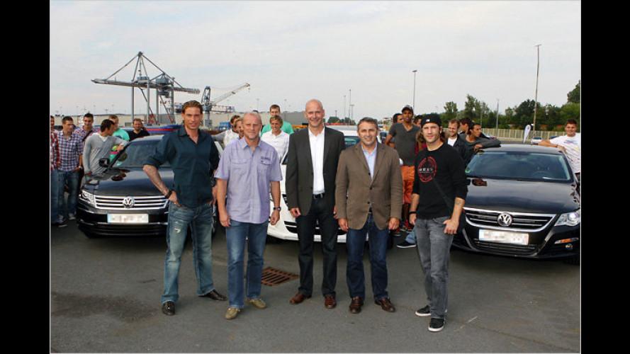 Fußballer von Werder Bremen weiterhin mit VW unterwegs