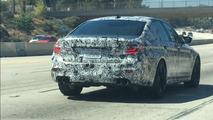 2018 BMW M5 spy photo from California