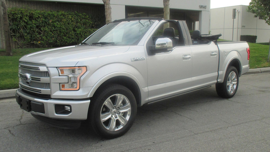 Someone actually made a Ford F-150 convertible