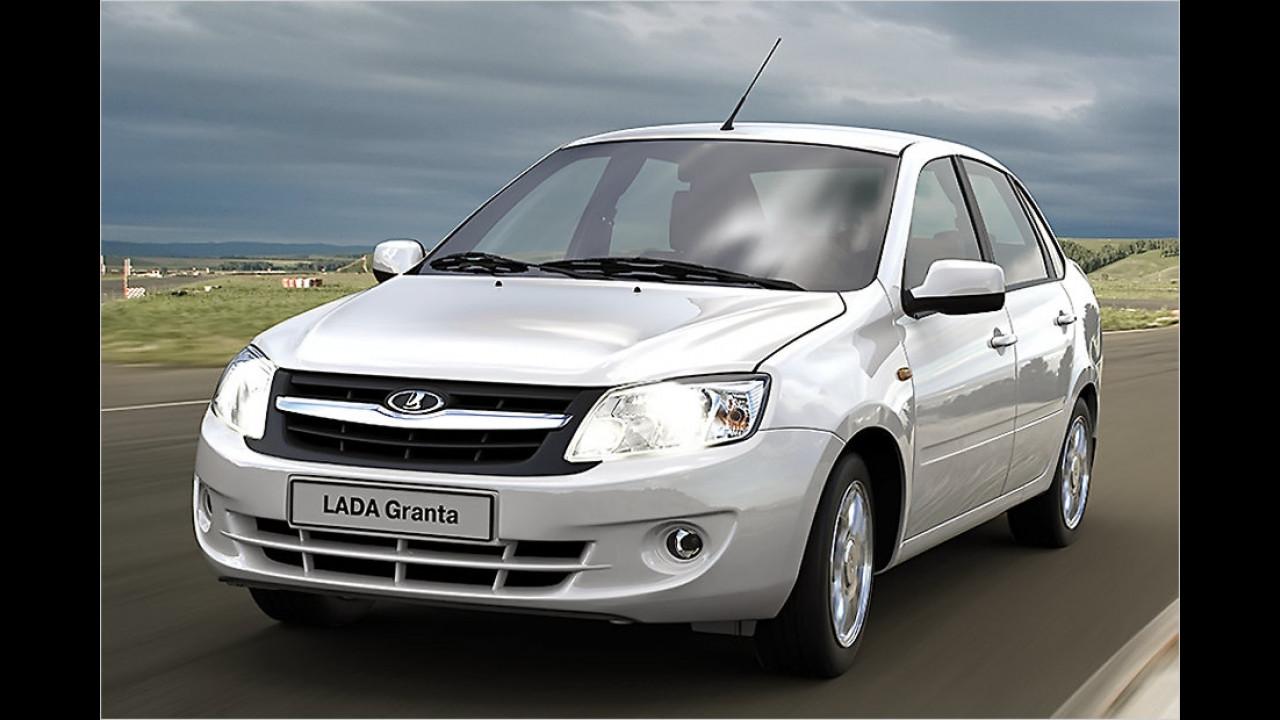 Billigstes Serienauto: Lada Granta, 6.750 Euro