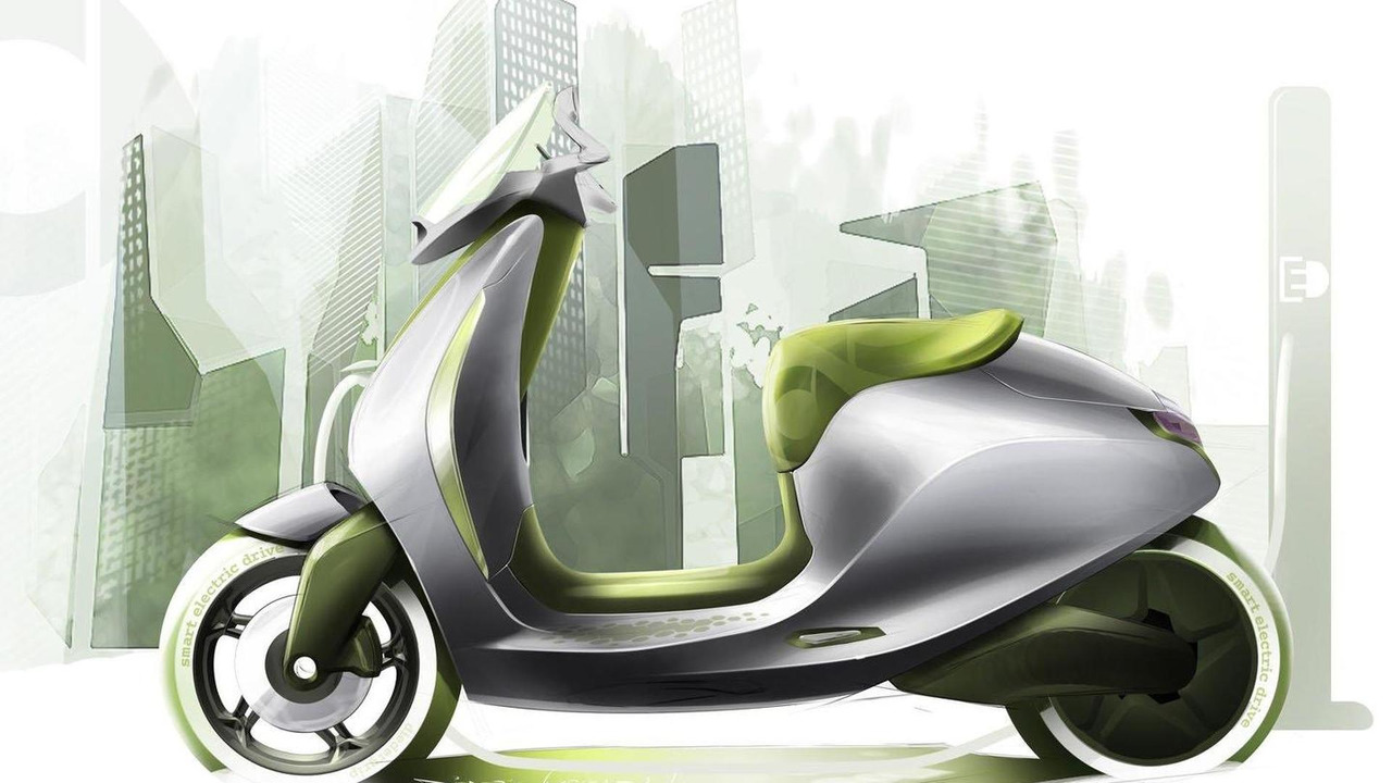 smart electric scooter concept sketch