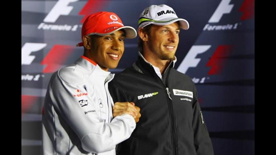 Dois campeões: McLaren confirma Button e Hamilton juntos em 2010