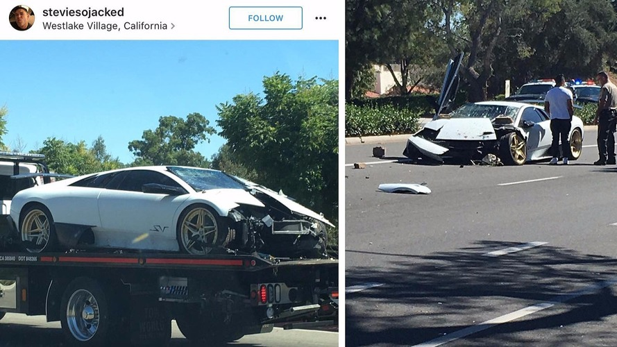Rare Lamborghini Murcielago SV 6-speed wrecked in Cali crash