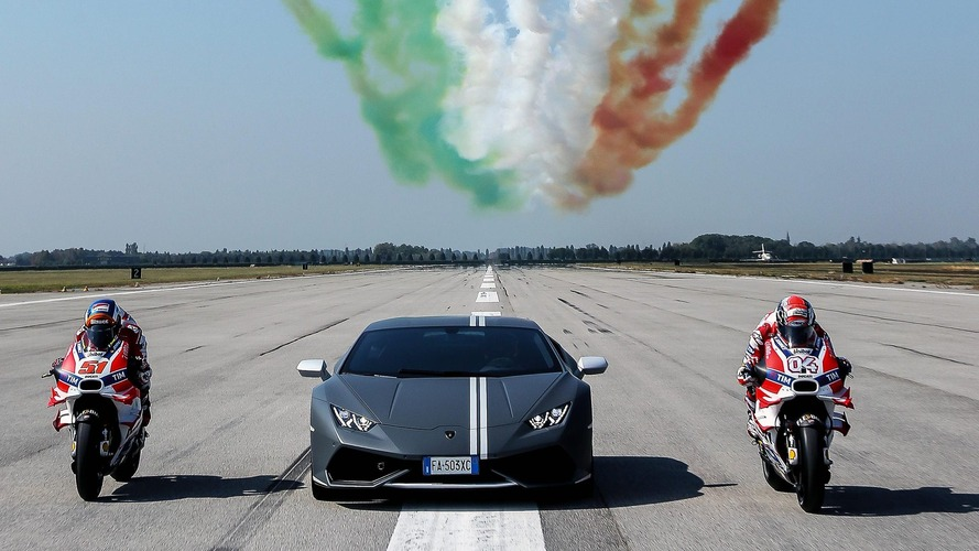Lamborghini celebrates Passioni Tricolori with Ducati and Italian Air Force