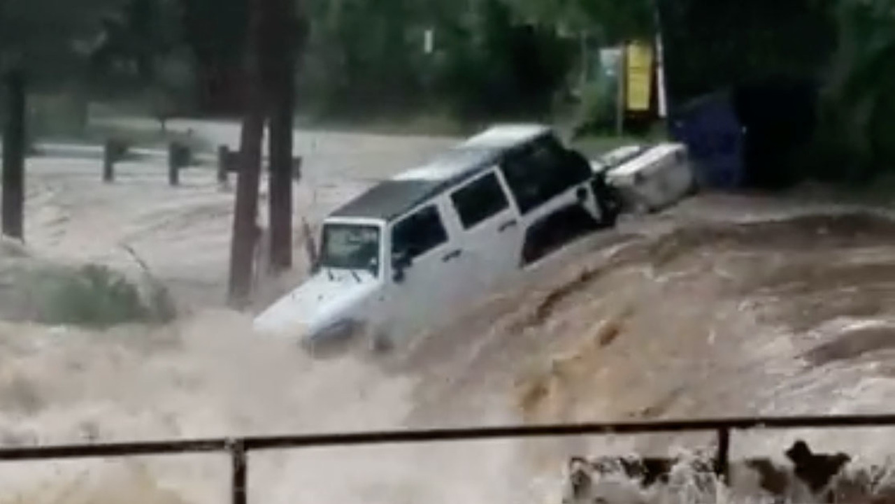 Jeep Wrangler in water