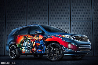 Kia Suits Up Justice League-Inspired Sorento for Comic-Con
