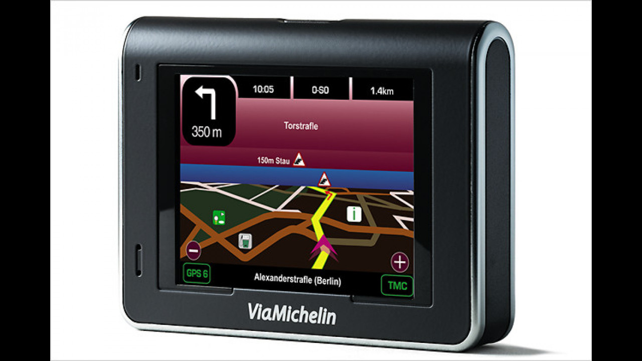 ViaMichelin X970T: Navi mit neuem GPS-Empfänger