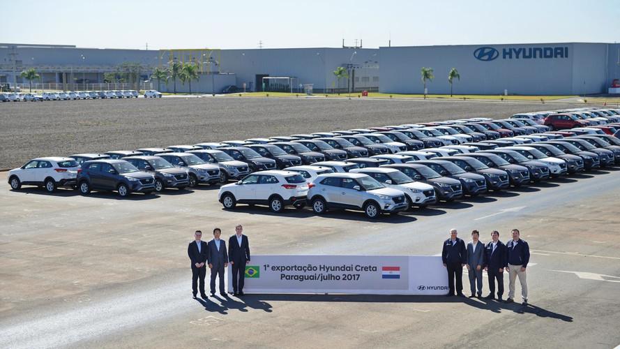 Hyundai Creta brasileiro começa a ser exportado para o Paraguai
