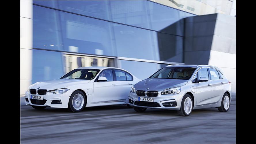 Neue Plug-in-Hybride BMW 225xe Active Tourer und 330e im Test