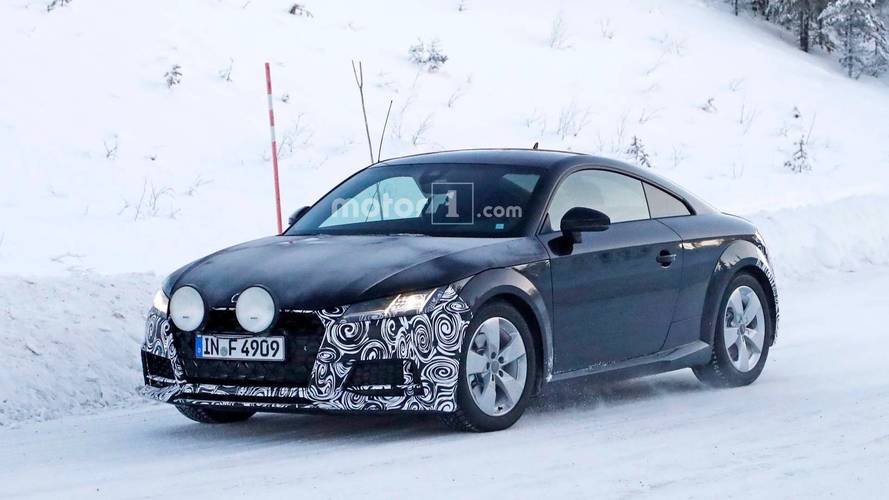 Audi TT Coupe Facelift Spied Exploring Its Rally Roots