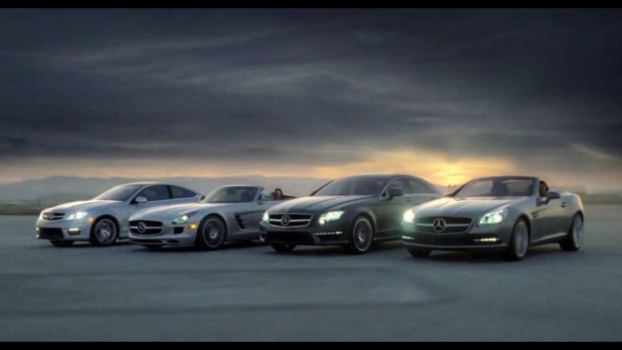 VÍDEO: Comercial da Mercedes para Super Bowl revela Classe C Coupé e SLS AMG Roadster