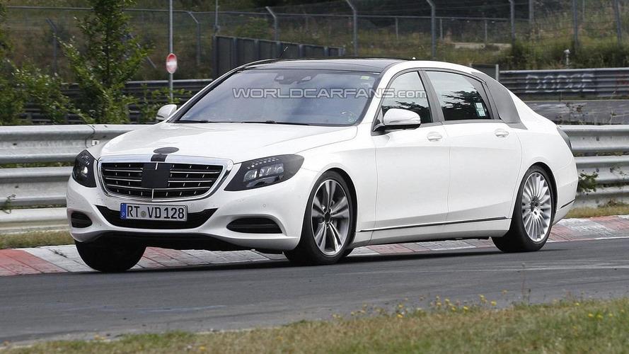 2014 Mercedes-Benz S-Class extra-long wheelbase returns in new spy pics