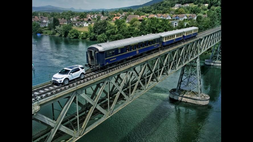 Trabalho pesado: Discovery Sport original reboca trem de 100 toneladas