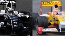 Williams FW31 and Renault R29