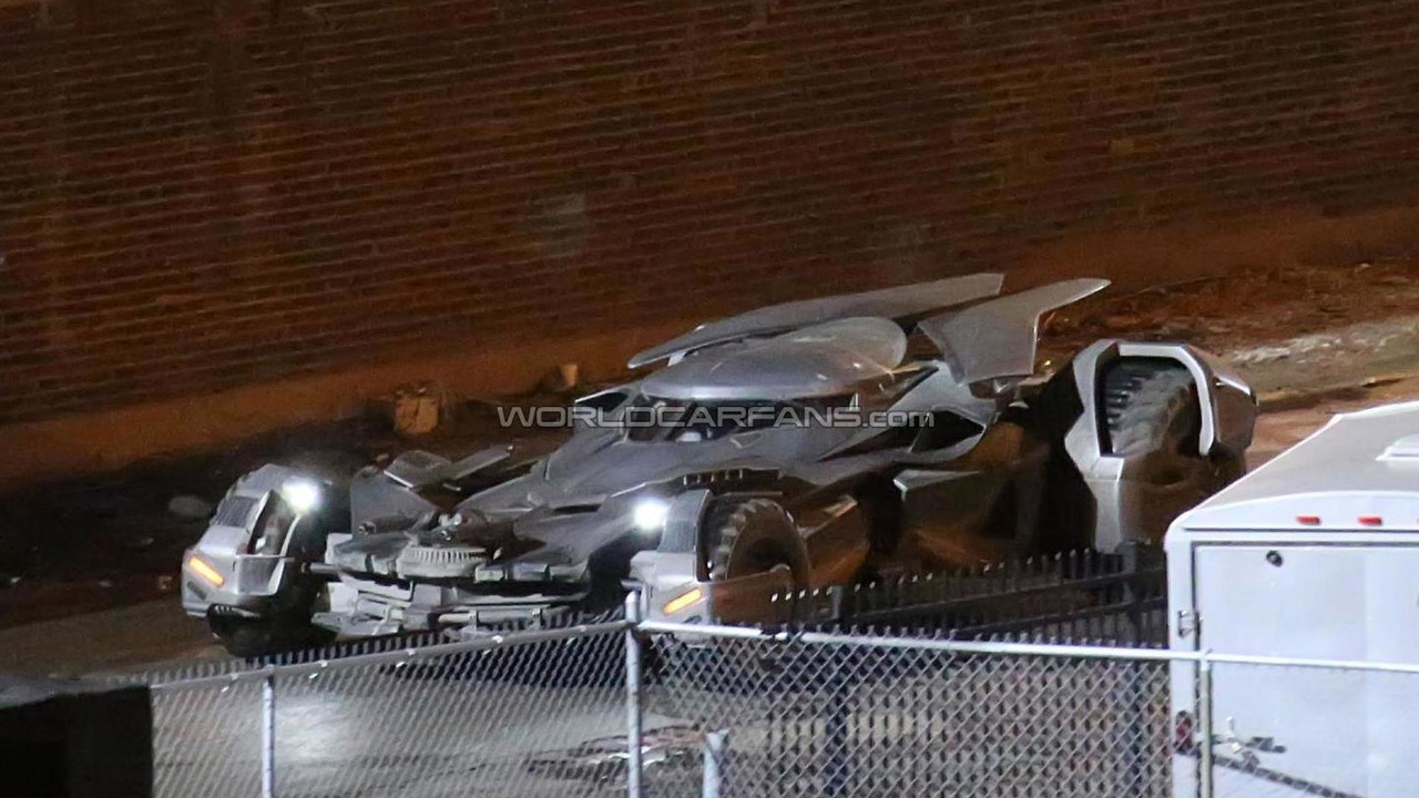 Batmobile caught during filiming for Batman Vs Superman: Dawn of Justice
