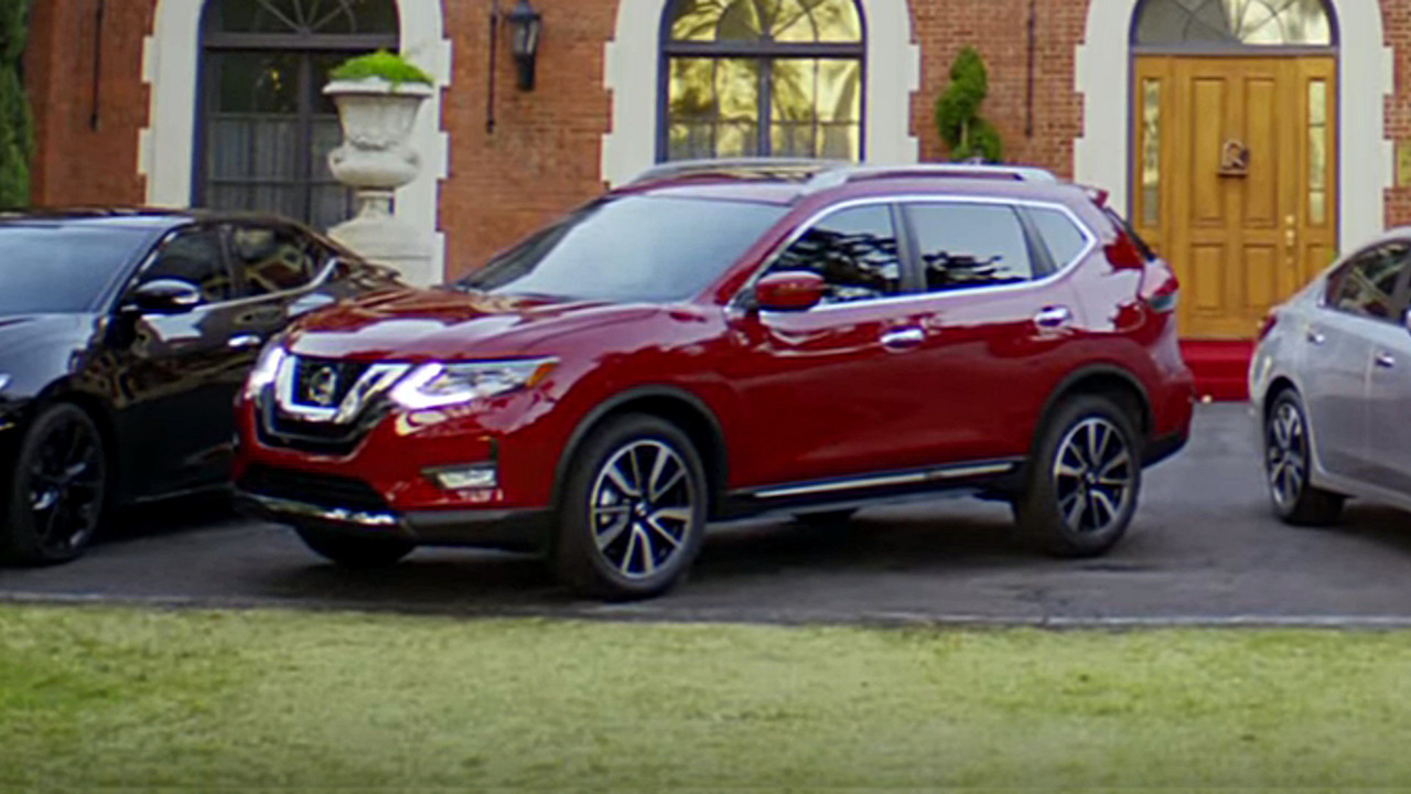 2017 Nissan Rogue in ad