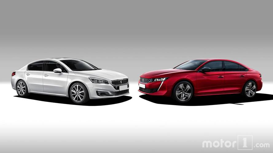 Old And New Peugeot 508 Side-By-Side